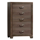 Liberty Hartly Five Drawer Chest in Gray Wash 283-BR41