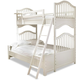 Smartstuff Furniture Genevieve Twin to Full Bunk Extension Kit in French White 434A595