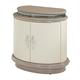 Aico Overture 2 Door Upholstered Nightstand in Cristal 08040-13