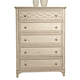 Liberty Cape Cottage 5-Drawer Chest in Weathered White 662-BR41