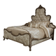 Aico Platine de Royale King Panel Bed in Antique Platinum 09000EKPL3-101