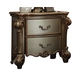 Acme Vendome Nightstand in Gold Patina 23003