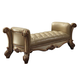 Acme Vendome Upholstered Bench in Gold Patina 96484 PROMO