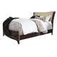 Lenmara Queen Panel Bed in Deep Dark Red