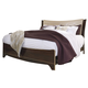 Lenmara King Panel Bed in Deep Dark Red