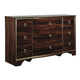 Lenmara Dresser in Deep Dark Red B247-31