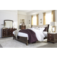 Lenmara 4-Piece Panel Bedroom Set in Deep Dark Red