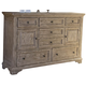 Liberty Highlands Door Dresser in Gravel 727-BR31