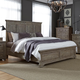 Liberty Highlands King Panel Bed in Gravel 727-BR-KPB