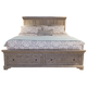 Liberty Highlands Queen Storage Bed in Gravel 727-BR-QSB
