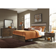 Liberty Hudson Square 4-Piece Panel Bedroom Set in Linen/Espresso