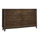 Liberty Hudson Square Six Drawer Dresser in Espresso 365-BR31