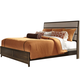 Liberty Hudson Square King Panel Bed in Linen/Espresso