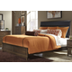Liberty Hudson Square Queen Upholstered Bed in Black/Espresso