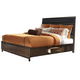 Liberty Hudson Square Queen Two Sided Storage Bed in Black/Espresso