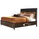 Liberty Hudson Square King Two Sided Storage Bed in Black/Espresso