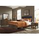 Liberty Hudson Square 4-Piece Upholstered Bedroom Set in Black/Espresso