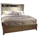 Liberty Beverly Boulevard Queen Storage Bed in Champagne Wash 732-BR-QSB
