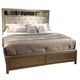 Liberty Beverly Boulevard King Storage Bed in Champagne Wash 732-BR-KSB