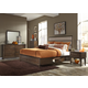 Liberty Hudson Square 4-Piece Two Sided Storage Bedroom Set in Linen/Espresso