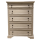Liberty Covington Cottage II Five Drawer Chest in Pebble White 393-BR41