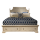Liberty Covington Cottage II Queen Storage Bed in Pebble White