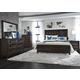 Liberty 4-Piece Midtown Storage Panel Bedroom Set in Coffee Bean