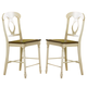 Liberty Furniture Low Country Napoleon Back Barstool (RTA) in Linen Sand with Suntan Bronze Finish 79-B550024 (Set of 2)