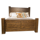 Liberty Deep Creek King Poster Bed in Rustic Tobacco 788-BR-KPS