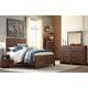 Hammerstead 4pc Panel Bedroom Set in Brown