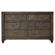 Liberty Modern Country Drawer Dresser in Harvest Brown 833-BR31