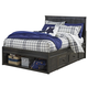 Jaysom Twin Panel Storage Bed in Black B521-TS