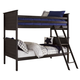 Jaysom Twin/Twin Bunk Bed in Black B521-TB