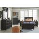 Jaysom 4pc Panel Bedroom Set in Black
