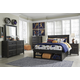 Jaysom 4pc Panel Storage Bedroom Set in Black