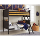 Jaysom 4pc Twin/Twin Bunk Bedroom Set in Black