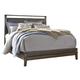 Zilmar California King Upholstered Panel Bed in Brown B548-CK