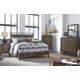 Zilmar 4pc Upholstered Panel Bedroom Set in Brown