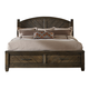 Liberty Modern Country Queen Storage Bed in Harvest Brown 833-BR-QSB