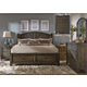 Liberty 4-Piece Modern Country Storage Poster Bedroom Set in Harvest Brown