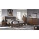 Ralene 4pc Upholstered Storage Panel Bedroom Set in Dark Brown
