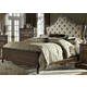 Liberty Lorraine Queen Upholstered Bed in Antique Oak 843-BR-QUB