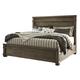 Leystone Queen Panel Bed in Dark Brown B614-Q