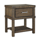 Leystone 1 Drawer Nightstand in Dark Brown B614-91