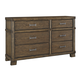 Leystone Dresser in Dark Brown B614-31