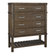 Leystone 4 Drawer Chest in Dark Brown B614-46