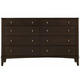 Casana Furniture Juliette 8 Drawer Dresser in Mink 380-458