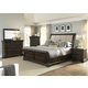 Liberty 4-Piece Country Estate Sleigh Bedroom Set in Chateau Brown