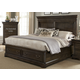 Liberty Country Estate Queen Storage Bed in Chateau Brown 881-BR-QSB