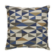Daray Abstract Designed Pillow in Blue and Gold (Set of 4)